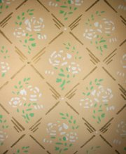 stencil- painted wall decorations