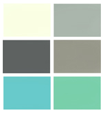 Neutral bathroom color scheme