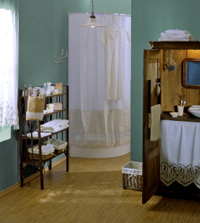 bathroom color scheme - greens