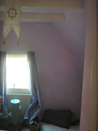Bedroom painting idea: color washed walls