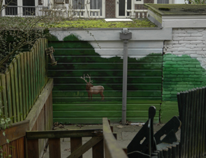 Faux landscape in Kindergarten backyard
