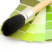 Green interior paint