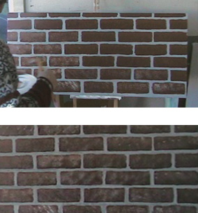 brick painting ideasPainting Faux Brick