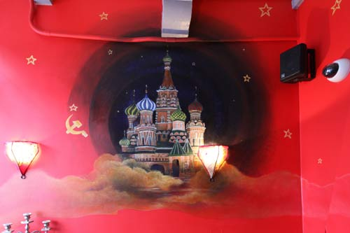 Wall painting in coffeshop