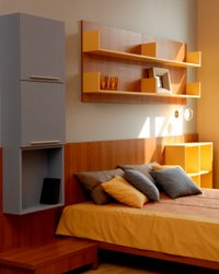Room painting idea: orange and yellow