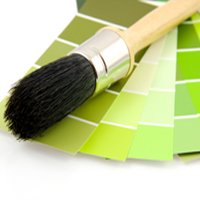 green, sustainable paint