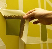 wall decorating with masking tape